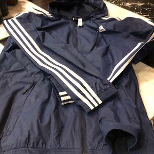Adidas light weight hooded jacket